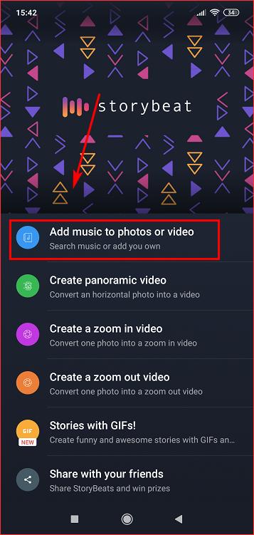 Add music to photos