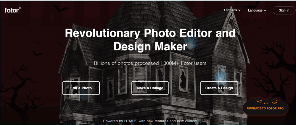 Онлайн сервис Fotor