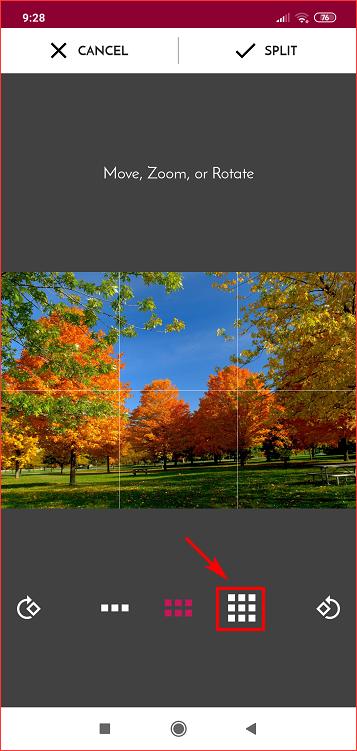 Разделить изображение на нужное количество частей