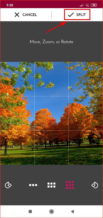 Разрезать картинку на части