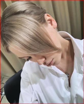 Лицо за волосами